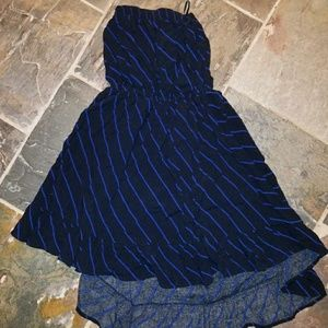 Cotton On black  and  blue  dress